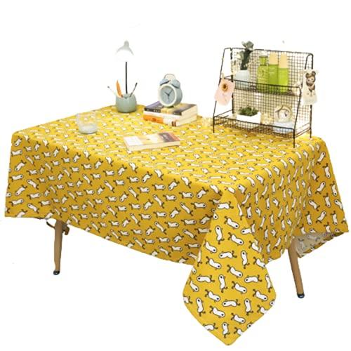 Tovaglia Rettangolare in Poliestere Stampa Modello Cartone Animato Tovaglia Quadrata Tovaglia Tavolino Hotel Adatto per Soggiorno Decorazione Cucina Giardino Esterno 130x180cm