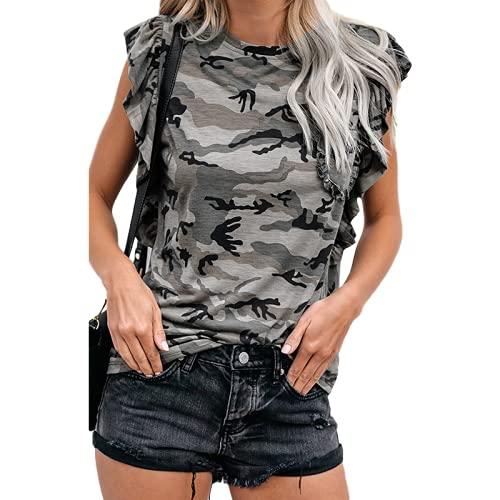 Camiseta Holgada Informal de Manga Corta con Cuello Redondo para Mujer, Camiseta clásica con Temperamento...