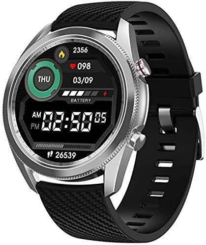 Reloj Inteligente Pulsera Inteligente Recordatorio De Los Hombres IP67 Al Aire Libre Impermeable Fitness Tracker Paso Contador De Silicona Plata