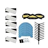 YTT 1 * Cepillo Principal + 5 * Filtro + 5 * Esponja + 10 * Cepillo Lateral + 5 * Mop Paño + 5 * Velcro para ILIFE A4 Robot Vacuum Cleaner Parts chuwi ilife A4 T4