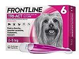 Frontline Triact, 6 Pipette, Cane XS (2 - 5 Kg), Antiparassitario per Cani e Cuccioli di Lunga Durata, Protegge il Cane da Pulci, Zecche, Zanzare, Pappataci e Leishmaniosi, Antipulci 6 Pipette