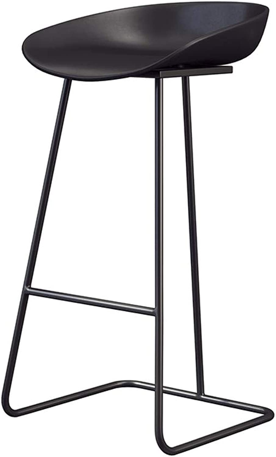 DR - Nordic Wrought Iron Fashion Bar Stool Stool Leisure Cafe Front Desk Stool Designer Chair Barstools (color   D)