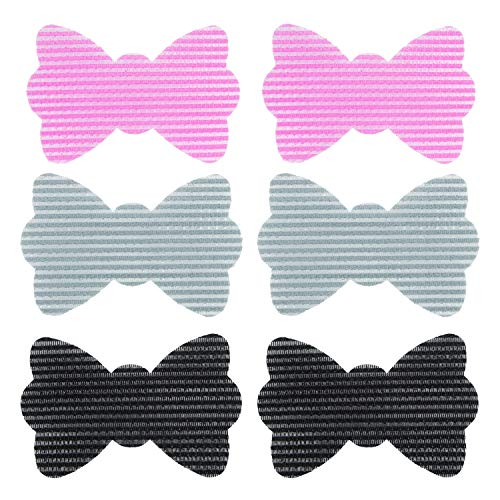 Magic Hair Pad, Hair patch, Hair clip, Hair bang accessories, Fringe Hair Sticker Pack of 6 Pieces (Bow 3 Colors)