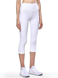 CRZ YOGA Women's Naked Feeling High Waist Crop Tight Yoga Capri Pants Workout Leggings-19 Inches
