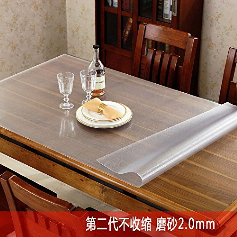 Pvc-Tischdecke, halbtransparente Schleifen, verdickte Kunststoff Tischdecke, Tisch Matte und Soft Glas, 2,0 mm, 40 X 60 Cm