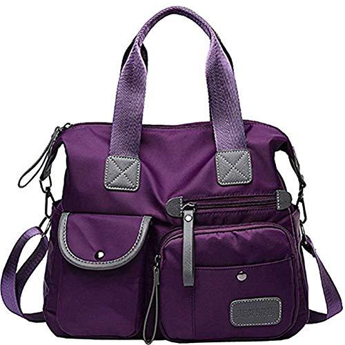 Bolso Bandolera Mujer Bolso De Bandolera Nylon Bolso Cruzado Mujer Alta Capacidad Bolso Mujer PortáTil Bolsos De Tela Bolsa De Viaje Mujer Purple