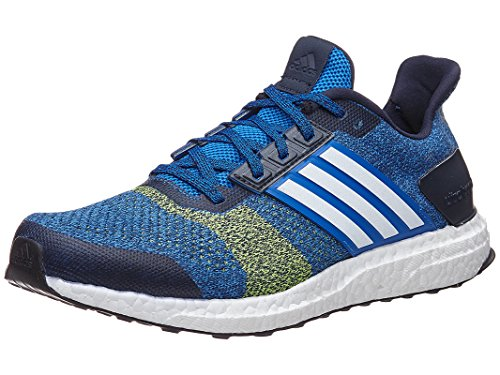 adidas Men's Ultra Boost ST, Blue/Yellow, 8 D