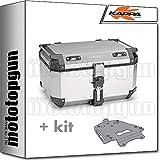 kappa maleta kfr580a k'force 58 lt + portaequipaje aluminio monokey compatible con bmw r 1200 gs 2015 15 2016 16