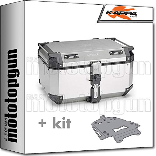 kappa maleta kfr580a k'force 58 lt + portaequipaje aluminio monokey compatible con bmw r 1200 gs adventure 2018 18