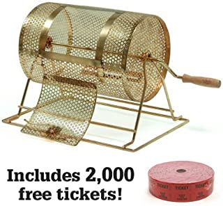 Midway Monsters Small Brass Raffle Drum with 2000 Free Tickets
