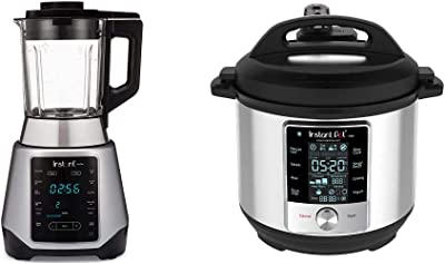 Instant Pot Ace Plus 10-in-1 Smoothie and Soup Blender, 54 oz & Max 6 Quart Multi-use Electric Pressure Cooker with 15psi Pressure Cooking, Sous Vide, Auto Steam Release Control and Touch Screen
