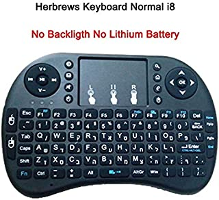 Calvas i8 Russian English Hebrew Version i8+ 2.4GHz Wireless Keyboard Air Mouse Touchpad Handheld for Android TV BOX Mini ...