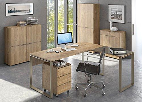 moebel-dich-auf Komplettes Arbeitszimmer - Büromöbel Komplett Maja Yolo in Riviera Eiche (Set 2)