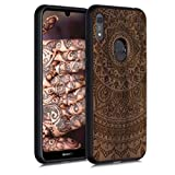 kwmobile Wood Case Compatible with Huawei Y6s (2019) -