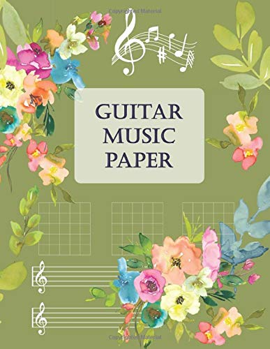 Guitar Music Paper: Beautiful Guitar Music Paper Notebook | 5 chord diagrams and 7 six-line staves per page | Perfect for Musicians Teachers Students and Songwriters