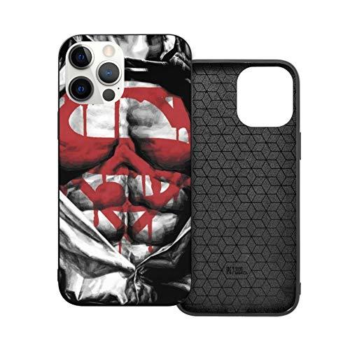 VOROY Super-Man Logo A-P-P-L-E - Carcasa para iPhone 12, color negro