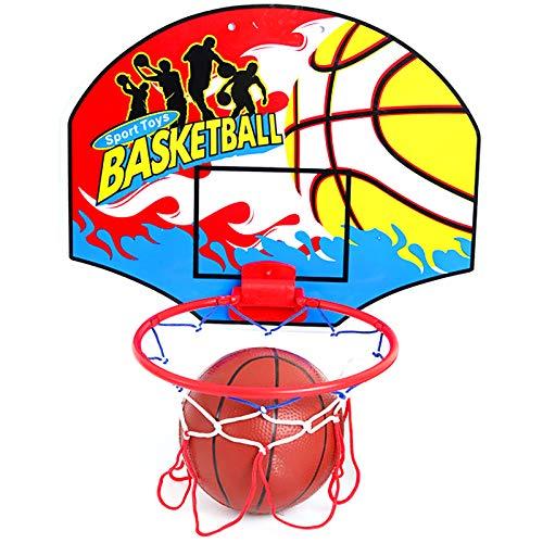 ZZLYY Canasta Baloncesto Infantil Juguetes para Niños, Aro De Baloncesto Plegable, Mini Baloncesto Junta Niños Deportes De Ocio con Balón Y Bomba Mini Juego De Baloncesto