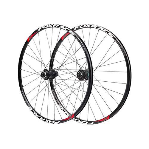 ZPPZYE Ruedas de Ciclismo MTB 26 Pulgadas Freno de Disco Ruedas de Bicicleta de 27,5' Rodamientos Sellados Llanta de Buje para Velocidad 7/8/9/10/11 (Color : Black, Size : 27.5 Inch)