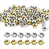 Huaepogeed Campanellini 100 Pezzi Campanellini Piccoli Sonagli Campanellini di Metallo Mini Campanellini per Gioielli Artigianali Decorazioni per Feste di Matrimonio (12 mm)