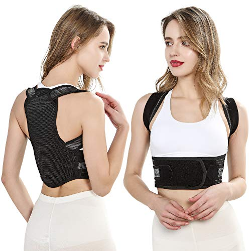 Back Brace Posture Corrector with Spine & Back & Lumbar Support - Provides Relief for Neck, Back, Shoulders - Fully Adjustable Support Brace - Men and Women