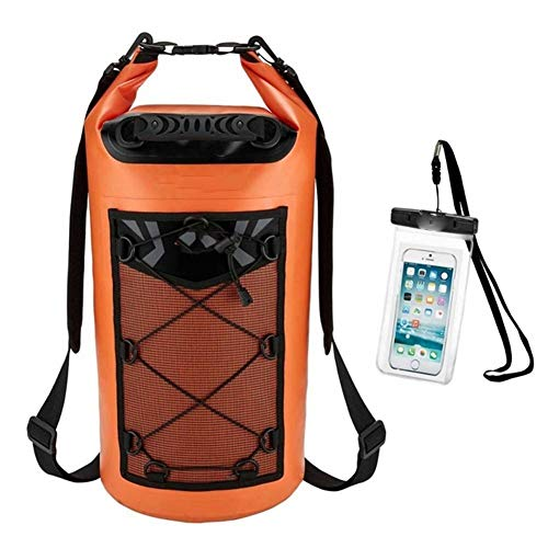 Mochila impermeable Bolso seco impermeable + caja del teléfono flotantes secos mochila de deportes acuáticos for la pesca Navegación Surf Rafting Natación 10-40L para kayak, rafting, navegación, natac