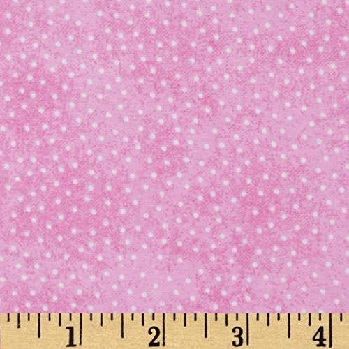 A.E. Nathan Comfy Flannel Micro Dot Pink Fabric By The Yard
