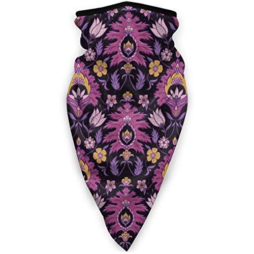 Nonebrand Boho Floral Tile Pink und Senf Outdoor Gesichtsmaske winddicht Sport Maske Bandana Schal Sturmhaube Multifunktionale Kopfbedeckung für Männer Frauen