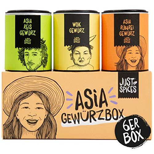 Just Spices Asia Gewürzbox | 6 der besten asiatischen Gewürze in einer Box | Geschenk für Frauen und Männer