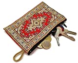 MYSTIC JEWELS - Monedero Pequeño para Tarjetas, Llaves, metalicos - diseño de Alfombra - Turco Traditional (15x10cm) (Color8)
