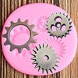 ZHHAO Stampo in Silicone Industriale Steampunk Gears Fondant Cake Decorating Tools Cioccolatian Argilla di Cioccolato Candy Cuffie