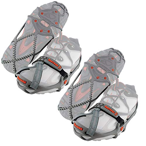 Yaktrax Run Traction Cleats for Running on Snow and Ice, Small (2 Pair)