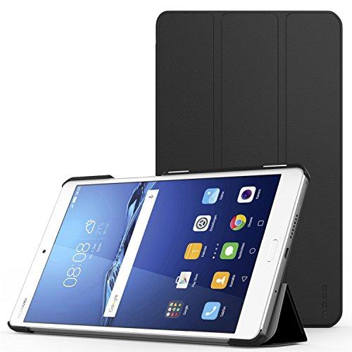 MoKo Huawei MediaPad M3 8.4 Funda - Ultra Slim Lightweight Función de Soporte Protectora Plegable Smart Cover Durable para Huawei MediaPad M3 8.4 Pulgadas 2016 Tableta, Negro