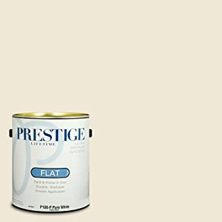 Prestige Paints Interior Paint and Primer In One, 1-Gallon, Flat, Comparable Match of Benjamin Moore Navajo White