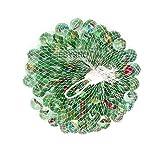 ebyreo® Canicas – Canicas de cristal en práctica red | Bolas de cristal para jugar o como decoración | Circuito de canicas.