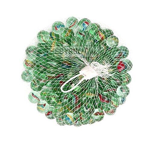 ebyreo® | Murmeln - Glasmurmeln im praktischen Netz | Glaskugeln zum Spielen oder als Dekoration | Murmelbahn