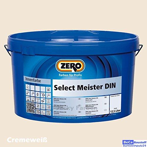 ZERO Select Meister DIN 12,5 L Profi Wandfarbe Innenfarbe, Cremeweiß