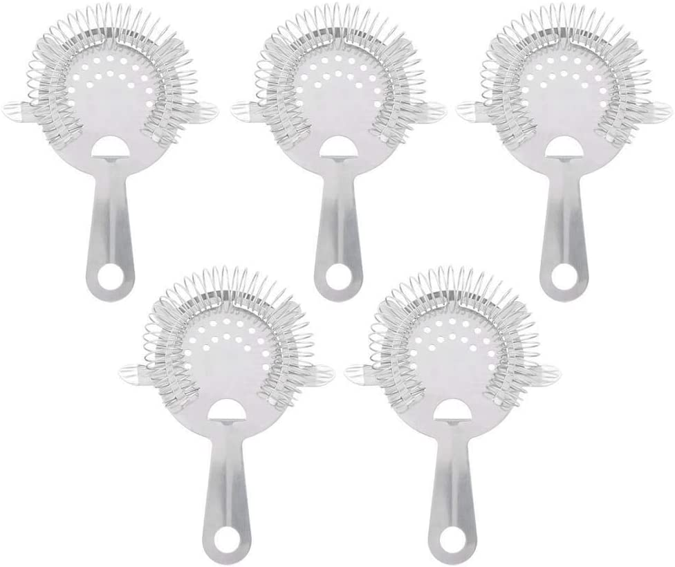 Conlense Fees free sale 5Pcs 304 Stainless Steel B Ice Strainer Filter Cocktail