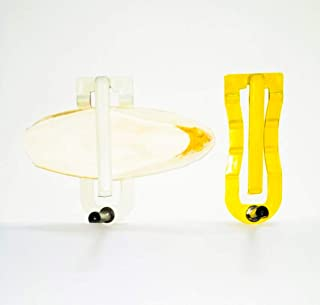 Pets Wizard Cuttlefish Bone Holder with Perch & Free Cuttlefish Bone 100 Grams ( Yellow or White Color Holder ) (1 Holder)