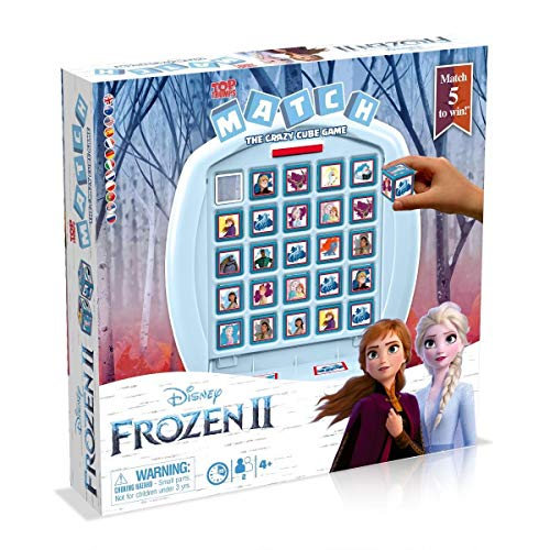 Winning Moves 36597 Elsa und Anna MATCH - Frozen 2, Würfelspiel