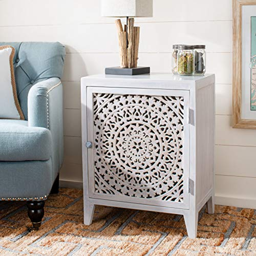 Why Choose Safavieh Home Thea Brown 1-Door Carved Mandala Nightstand