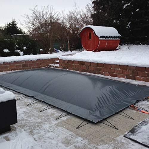 VEVOR Cubierta Inflable de Seguridad para Piscina, Tamaño de 6 x 3 m Cobertor de Piscina Rectangular, Tamaño de Piscina de 6 x 3 m Lona de Piscina de PVC Carbón Fácil de Instalar y Prevenir Escombros