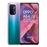 OPPO A54 5G Smartphone, 48 MP KI-Vierfachkamera mit Ultra Nacht Video, 6,5 Zoll 90 Hz FHD+ Neo-Bildschirm, 5.000 mAh Akku, 5G-Prozessor, 64 GB Speicher, 4 GB RAM, ColorOS 11.1, Dual-SIM, Fantastic Purple