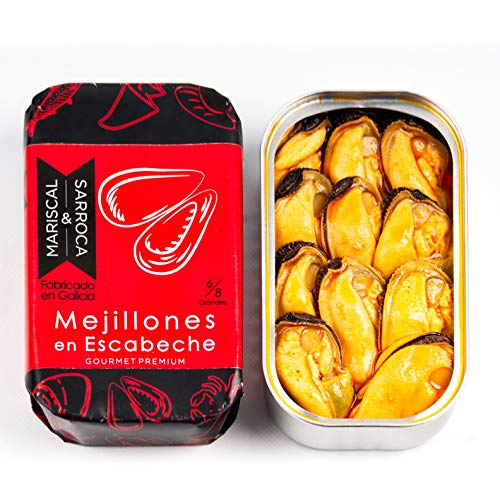 Mejillones en escabeche 8/12 Gourmet premium -...