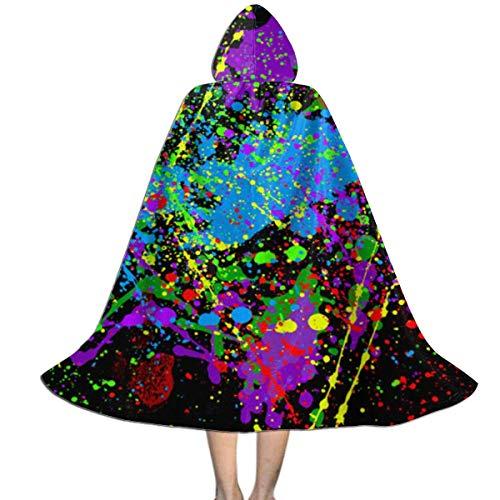 Halloween-Weihnachtskind-Cosplay mit Kapuze Robe-Kap-Mantel Neon Color Splash Hoodie Devil Vampire Wizard