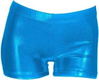 Reefa Short Pantalons pour Gymnastique Ballet Patinage Competition Danse Justaucorp Filles Surface Brillante 2-9 Ans