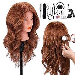 cheap 100% natural hair mannequin head, TopDirect 18 inch dark brown human hair beauty mannequin …