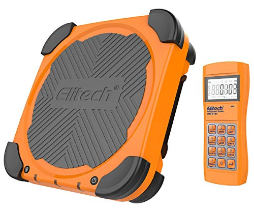 Elitech LMC-310A Báscula Electrónica Refrigerante, HVAC y AC Automatizada con Monitor Portátil y Monitor de LCD, la Medida Más Pesada 100KG✩Garantía de 12 meses✩