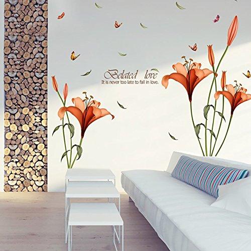 Bodhi2000 - Adhesivo de pared con flor de lirio