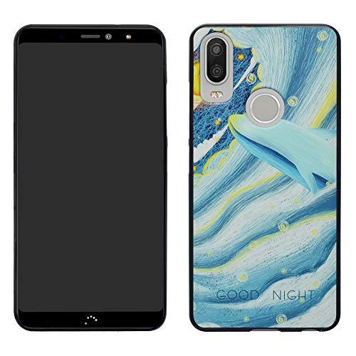 HHDY BQ Aquaris X2 Funda, Slim La Pintura Ultrafina Suave TPU Silicona Diseño de Cojín de Aire Protección Caso Cover para BQ Aquaris X2 / X2 Pro,Whale