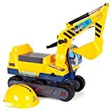 boppi Ride On Children's Digger with Hard-Hat - Yellow